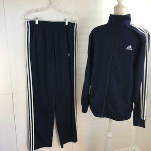 Mens adidas navy track suit M/L